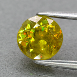 Genuine 100% Natural Sphene 0.99ct 6.0 x 6.0mm Round Cut SI1 Clarity