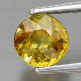 Genuine 100% Natural Sphene 1.03ct 6.0 x 6.0mm Round Cut SI1 Clarity