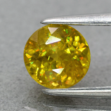 Genuine 100% Natural Sphene 1.05ct 6.0 x 6.0mm Round Cut SI1 Clarity