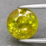 Genuine 100% Natural Sphene 1.08ct 6.0 x 6.0mm Round Cut SI2 Clarity