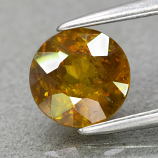 Genuine 100% Natural Sphene 1.10ct 6.2 x 6.2mm Round Cut SI1 Clarity