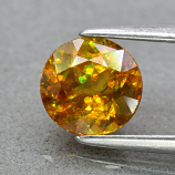 Genuine 100% Natural Sphene 1.11ct 6.3 x 6.3mm Round Cut SI1 Clarity