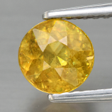 Genuine 100% Natural Sphene 1.12ct 6.0 x 6.0mm Round Cut SI1 Clarity
