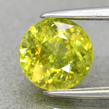 Genuine 100% Natural Sphene 1.17ct 6.3 x 6.3mm Round Cut SI1 Clarity