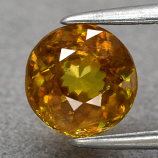 Genuine 100% Natural Sphene 1.18ct 6.3 x 6.3mm Round SI1 Clarity