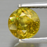 Genuine 100% Natural Sphene 1.21ct 6.0 x 6.0mm Round Cut SI1 Clarity