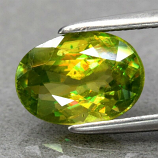 Genuine 100% Natural Sphene 1.25ct 8.0 x 5.0mm Oval VS Clarity