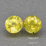 Genuine 100% Natural (2) Sphene 1.34ct 5.0 x 5.0mm Round Cut SI1 Clarity