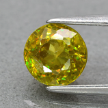 Genuine 100% Natural Sphene 1.34ct 6.2 x 6.0mm Round Cut SI1 Clarity