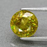 Genuine 100% Natural Sphene 1.34ct 6.2 x 6.0mm Round Cut SI1 Clarity
