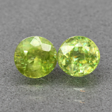 Genuine 100% Natural (2) Sphene 1.35ct 5.0 x 5.0mm Round Cut SI1 Clarity