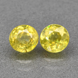 Genuine 100% Natural (2) Sphene 1.36ct 5.0 x 5.0mm Round Cut SI1 Clarity