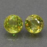 Genuine 100% Natural (2) Sphene 1.46ct 5.0 x 5.0mm Round Cut SI1 Clarity