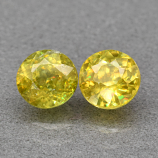 Genuine 100% Natural (2) Sphene 1.52ct 5.2 x 5.2mm Round Cut SI1 Clarity