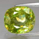 Genuine 100% Natural Sphene 2.54ct 8.5 x 7.4mm Cushion Cut SI1 Clarity