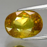 Genuine 100% Natural Sphene 2.81ct 9.2 x 6.7mm Oval SI1 Clarity