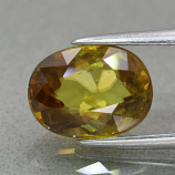 Genuine 100% Natural Sphene 3.06ct 9.8 x 7.3mm Oval SI1 Clarity
