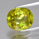 Genuine 100% Natural Sphene 3.36ct 10.2 x 8.8mm SI1 Clarity