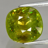 Genuine 100% Natural Sphene 3.64ct 8.7 x 8.4mm Cushion SI2 Clarity