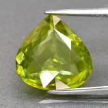 Genuine 100% Natural Sphene 5.16ct 13.0 x 12.7mm Pear VS Clarity