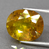 Genuine 100% Natural Sphene 6.92ct 12.3 x 10.3mm Oval SI2 Clarity