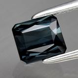 Genuine 100% Natural Blue Indicolite Tourmaline .76ct 5.4 x 4.7mm Scissor Cut IF Clarity RARE