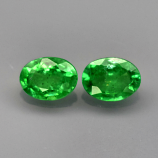 Genuine 100% Natural Tsavorite Garnet (2) .35ct 4.0 x 3.0mm Ovals SI1 Clarity