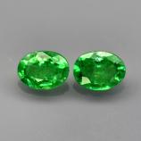 Genuine 100% Natural Tsavorite Garnet (2) .35ct 4.0 x 3.0mm Ovals SI1 Clarity