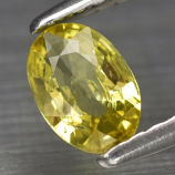 Genuine 100% Natural Yellow Sapphire 0.35ct 6.0 x 4.0mm Oval SI1 Clarity
