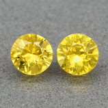 Genuine Yellow Sapphires (2) .46ct 3.8 x 3.8mm Round Cut VS Clarity