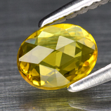 Genuine Yellow Sapphire .49ct 6.0 x 4.8mm Rose Cut VVS Clarity