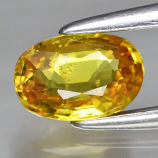 Genuine 100% Natural Yellow Sapphire 0.61ct 6.0 x 4.0mm Oval SI1 Clarity