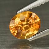 Genuine Orange Sapphire .82ct 6.14 x 5.12mm Oval VVS Clarity (Certified)