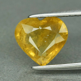 Genuine Yellow Sapphire 1.86ct 8.0 x 7.5mm Heart Cut SI1 Clarity