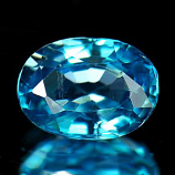Genuine 100% Natural Blue Zircon 1.36ct 7.1x5.2mm VS1 Cambodia