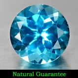 Genuine Blue Topaz 3.22ct 9.0 x 9.0mm Round VS1 Clarity