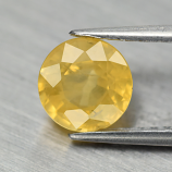 Genuine Yellow Sapphire 1.24ct 6.0x6.0x3.7mm SI1 Ceylon