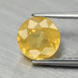 Genuine Yellow Sapphire 1.24ct 6.0x6.0x3.7mm SI1 Ceylon