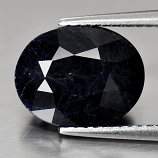 Genuine Midnight Blue Sapphire 5.32ct 11.3 x 9.0mm Oval Opaque