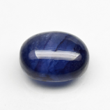 Genuine Cabochon Blue Sapphire 4.37ct 10.0x8.0x4.5mm SI2 Madagascar