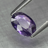Genuine 100% Natural Purple Sapphire 0.91ct 7.0x5.0x2.4mm SI1 Madagascar