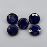 Genuine Blue Sapphires .62ct 5x5 SI1 Madagascar