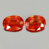 Genuine Orange Sapphire 0.85ct 7.0x5.1x2.7mm SI Madagascar