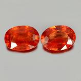 Genuine Orange Sapphire 0.85ct 7.0x5.1x2.7mm SI Madagascar