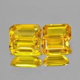 Genuine Yellow Sapphire .42ct 6.0 x 3.5mm Octagon VS1 Clarity (Set of 4)