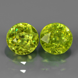 Genuine 100% Natural (2) Sphene 1.73ct 5.3x5.3mm SI1 Madagascar