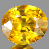 Genuine YELLOW SAPPHIRE .97ct 6.2 x 5.3 x 3.7mm Oval