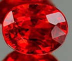 Genuine RED SAPPHIRE .46ct 5.2 x 4.3 x 2.0mm Oval