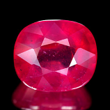 Genuine RUBY 6.52ct 11.2 x 9.7 x 6.3mm Cushion