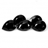 Genuine 100% Natural Black Spinel 0.89ct 7.3x5.2mm Opaque Thailand